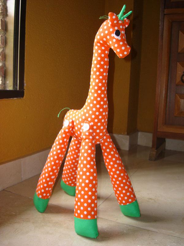 Como hacer jirafas de tela - Imagui